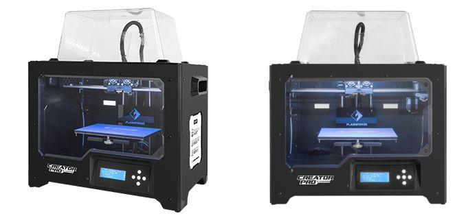 The Flashforge Creator Pro.