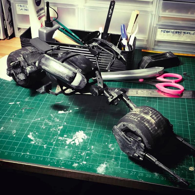 3ds Max one maker created the Batpod from the Dark Knight movie with the parts completely built on the Flashforge Dreamer