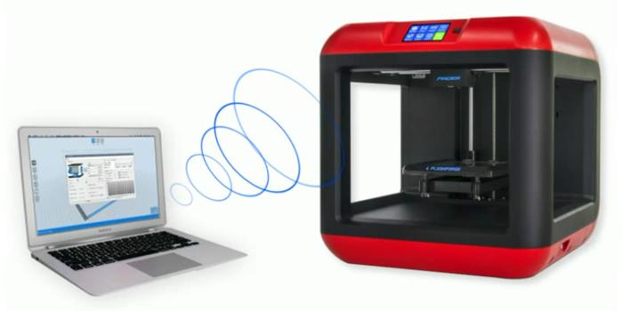 3D models can be printed from computer via WiFi, SD card or USB.