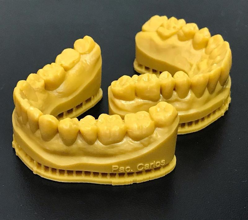 A dental lab prints its impressions using a FlashForge Hunter 3D printer