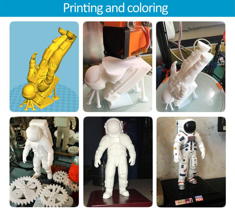 The FLSUN 3D printer has been used to print a lot of interesting models such as this astronau