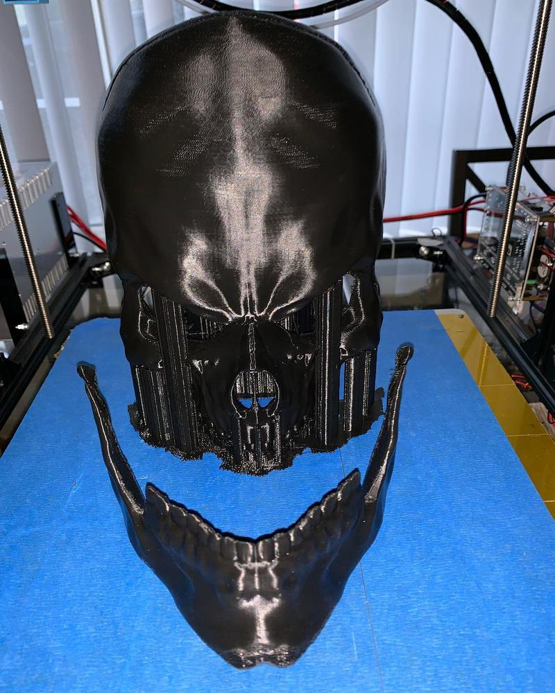 nother enthusiast used it to print his custom, skull-shaped Halloween mask