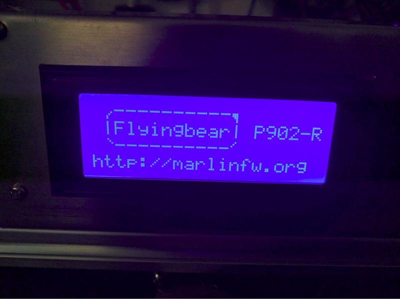 The printer is controlled via the built-in LCD interface.