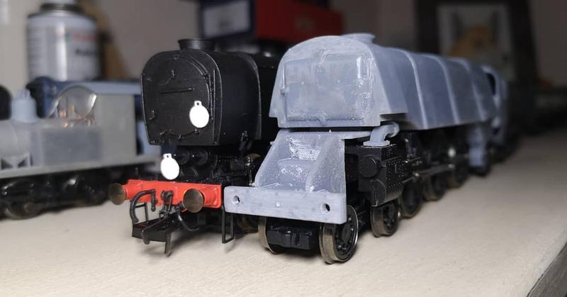 3D printed a Q1 Pacific locomotive taking 50 hours to print in total.