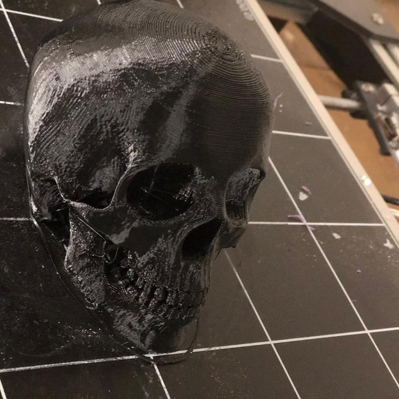 PETG-made skull. It turned out good with no warping issue.
