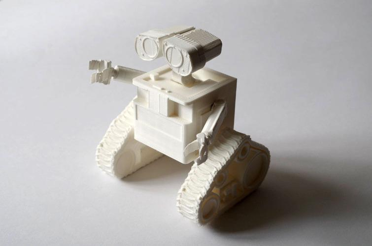 The build area is 8.3 x 12.2 inches (210 x 310). Larger models can be printed in parts and then assembled using acetone (for ABS) or glue (for PLA), just like this Wall-E 3D model.