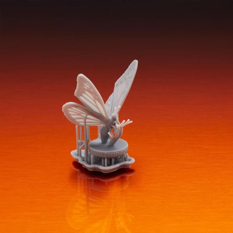 The Formlabs Form 3 is an STL 3D printer that can print layers at 25 microns. model buterfly printed formlabs form 3
