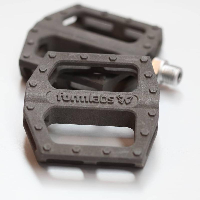 pedals for Bicycle printed on 3d printer formlabs fuse 1