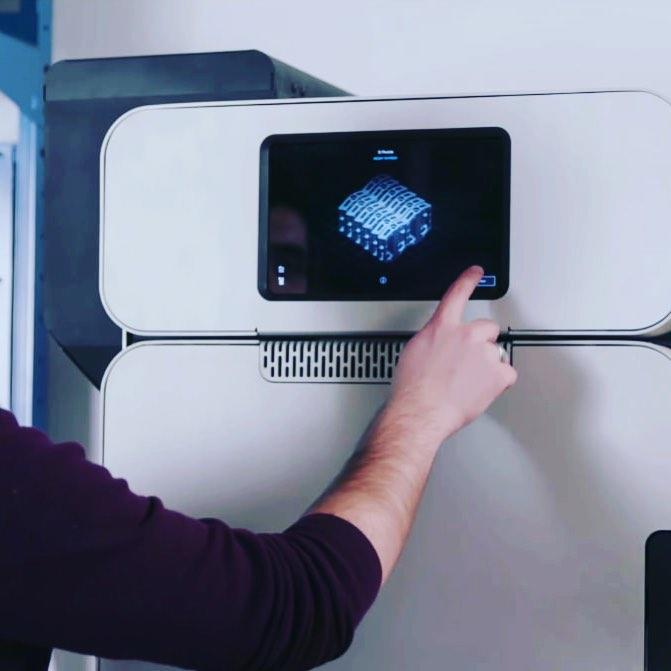 large touchscreen interface formlabs fuse 1