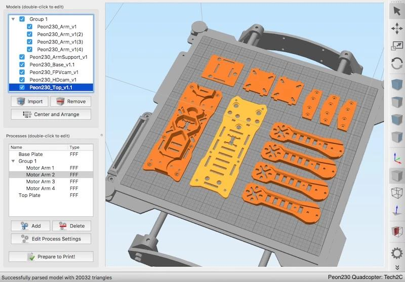 3D models can be printed via microSD card.