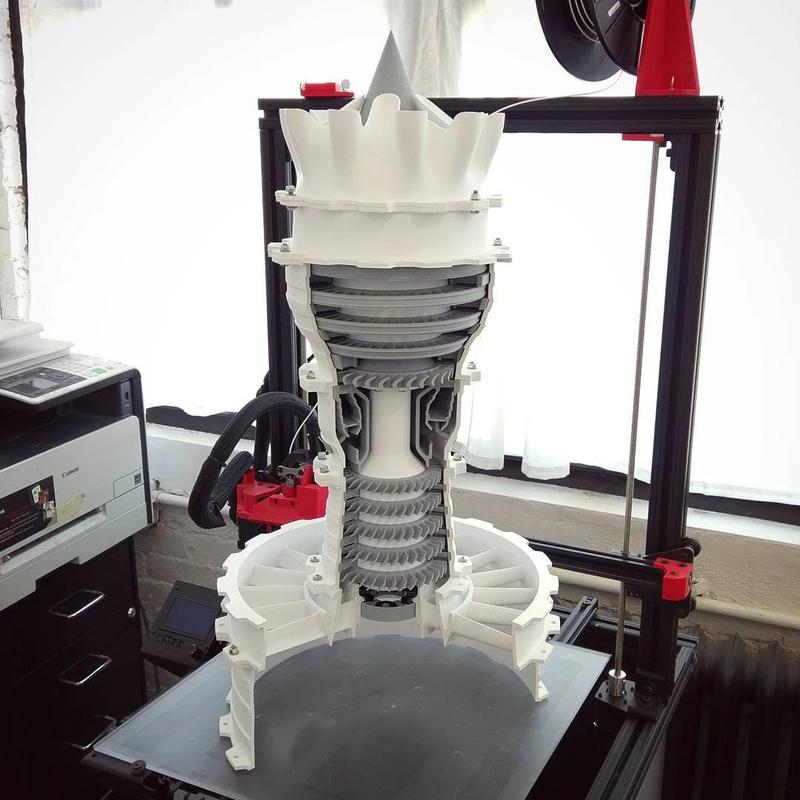 The build area of 16 x 16 x 21 inches (406 x 406 x 533 mm) lets you print just about anything