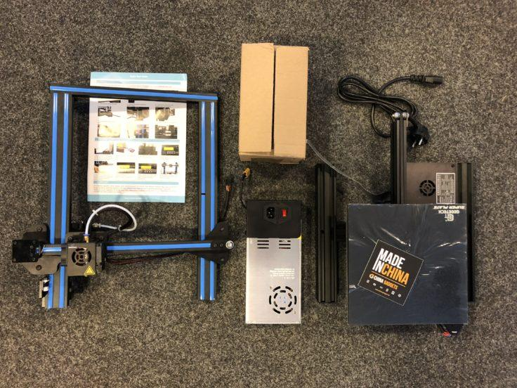 What's in the box Geeetech A10 3d printer