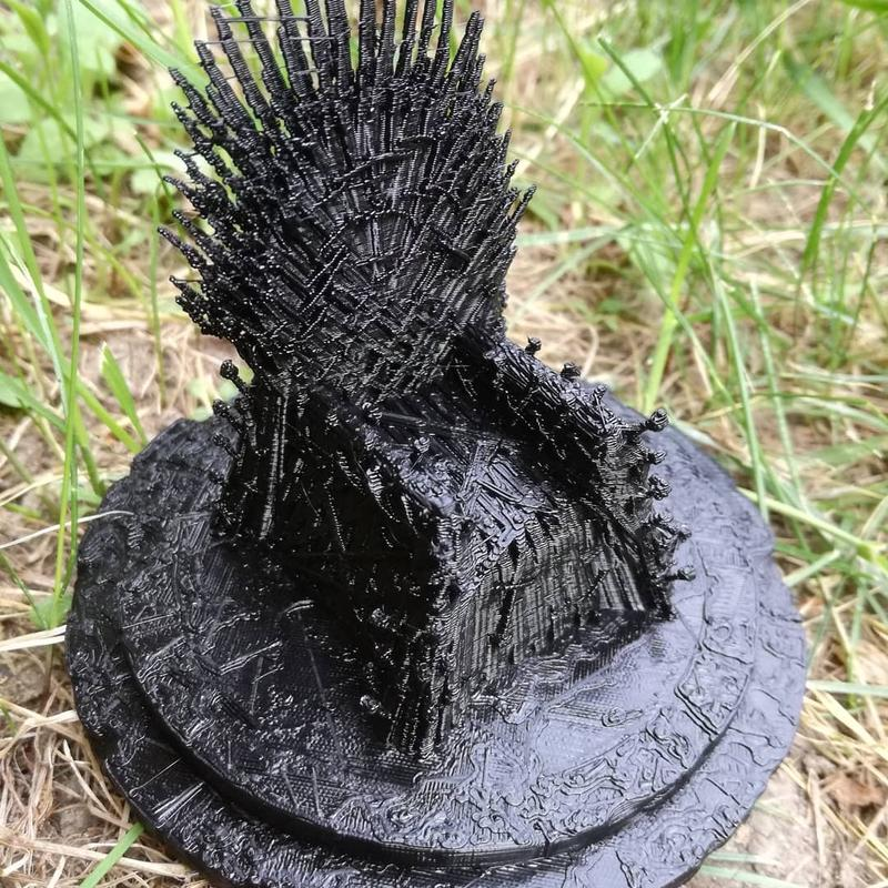 intricate iron throne.printed on fabrikator mini