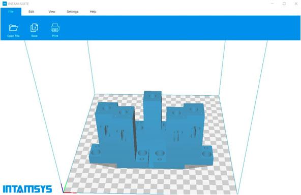 The printer includes the IntamSuite license. IntamSuite is Intamsys in-house software, which is based on the original Cura slicer. The program works with STL and OBJ files
