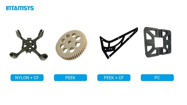 Funmat Pro 410 prints with PEEK, PEKK, PEI, PPSU, PC, Nylon, ABS, PLA, PVA, TPU, Carbon Fiber, and other materials.
