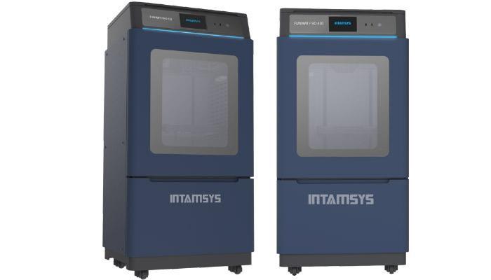 two Intamsys Funmat Pro 410 3D printers