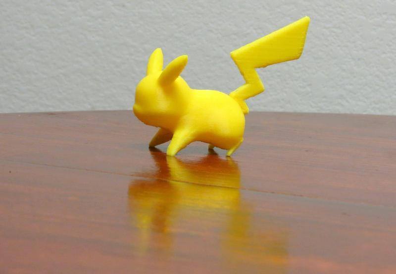 One creative used it to realize this accurate Pikachu. As a first test print, it looks enough good and polished.