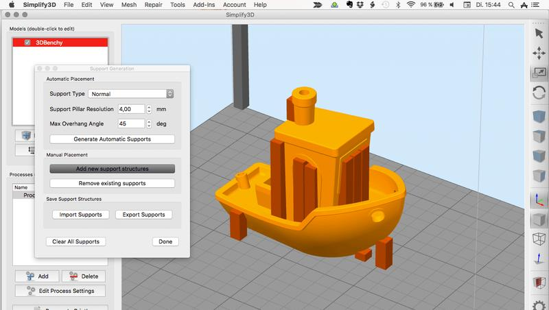 The printer comes with a free license of Simplify3D. The software works with 3D models in STL and G-code formats.