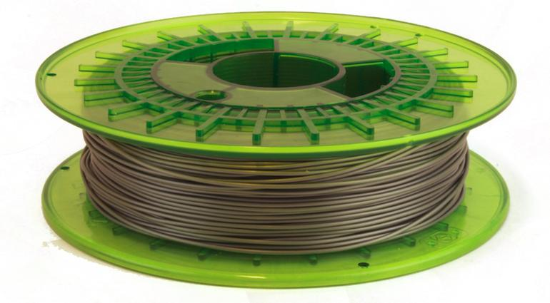 The LeapFrog Bolt Pro prints with 1.75 mm filament,