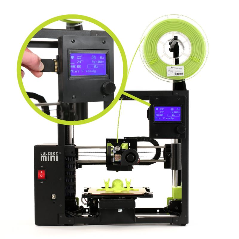 control button 3d printer lulzbot mini 2