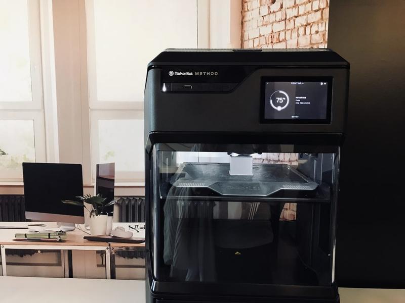 3d printer makerbot method interior