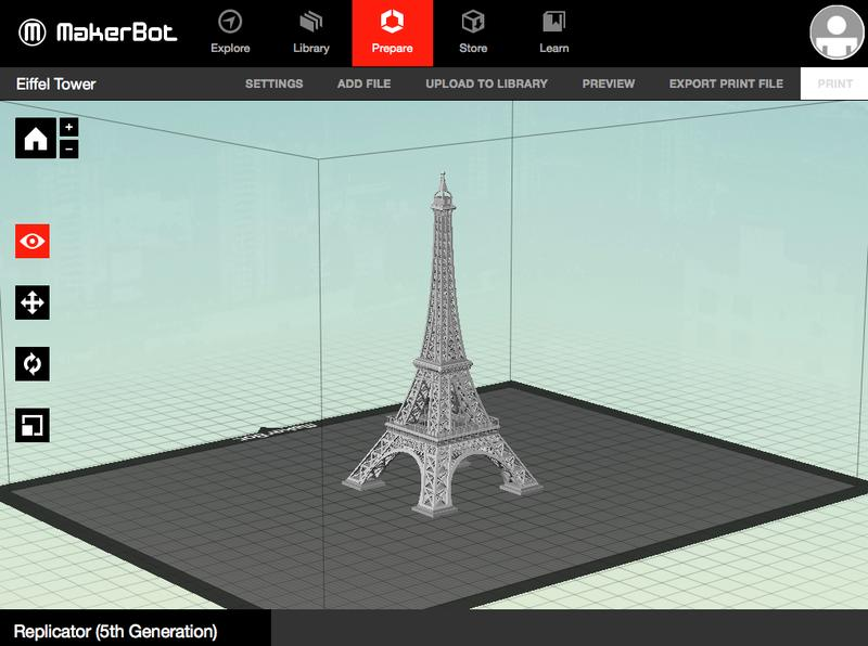 3d model in viewport makerbot