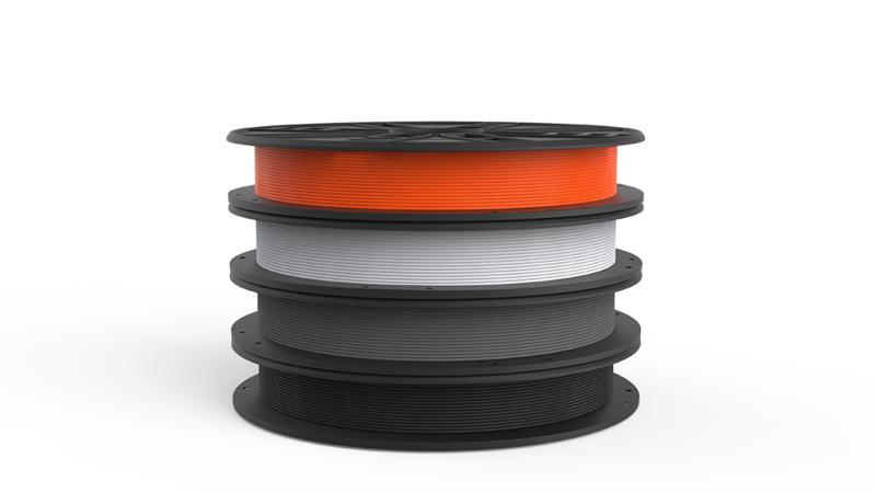 the spool of filament plastic for 3D printer