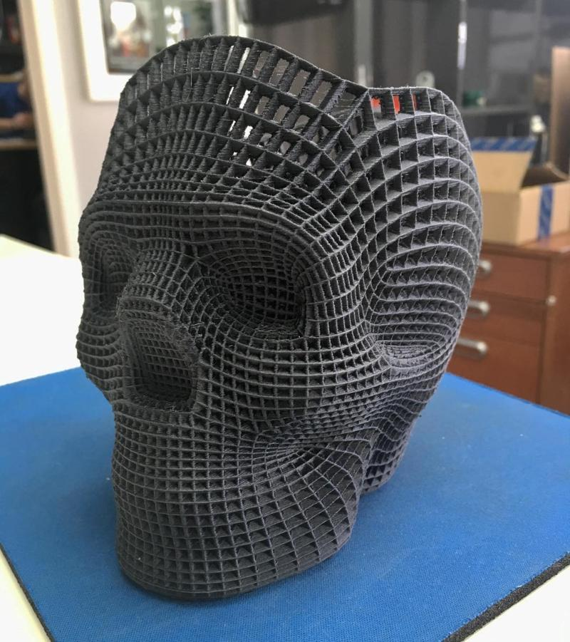 3d model skull printed