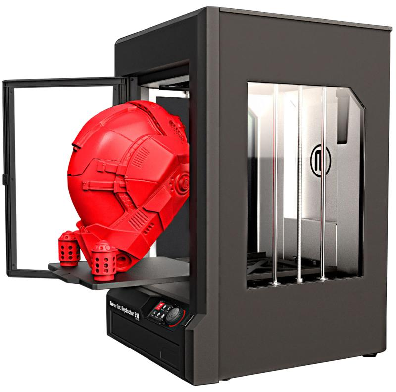 3d printer makerbot replicator z18 with 3d model