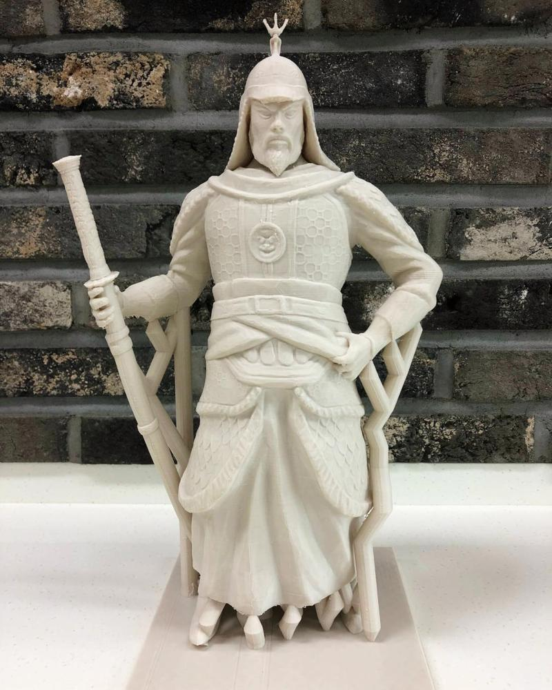 3D printed model of Admiral Yi Sun-Shin