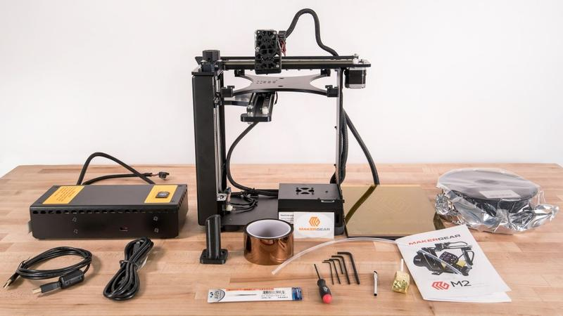 what's in the box MakerGear M2 3D Printer