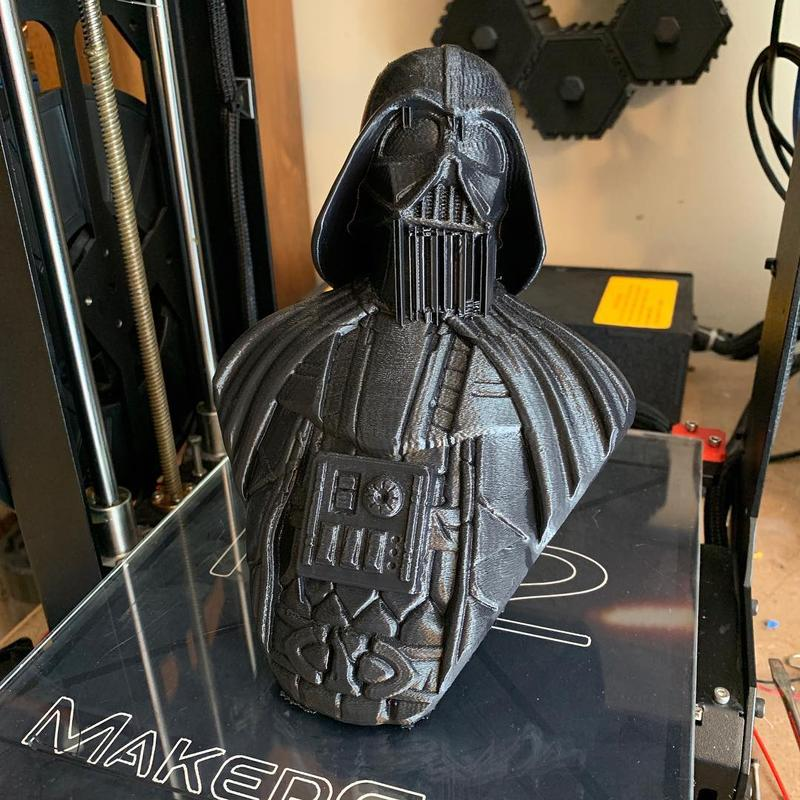 This Darth Vader bust is rich in details. Notice how precise it looks even before cleaning.