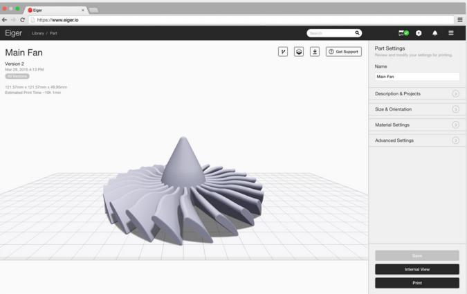The Onix Pro features the in-house Makerforged's Eiger software. This easy-to-use, free, cloud-based program offers a variety of advanced features to streamline the printing process