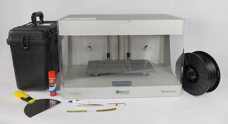 What's in the 3d printer markforged onyx pro box