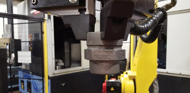 it was used to print high-resistant jaws for industrial robotic arms used in industrial automation. The components should be lightweight, strong, and conformal to the parts a robot manipulates and moves.