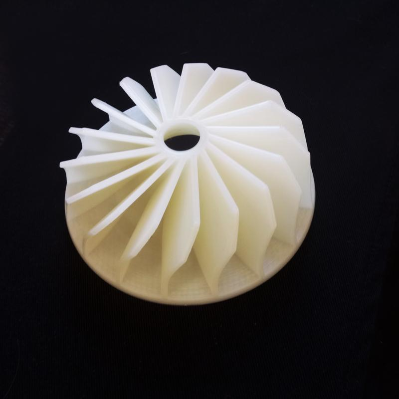 The cooling system has been designed to reduce warping and stringing. It generally makes for higher quality prints.