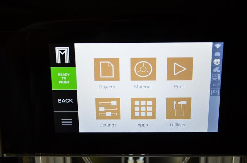 a 7-inch touchscreen of the 3d printer mass portal pharaoh xd30