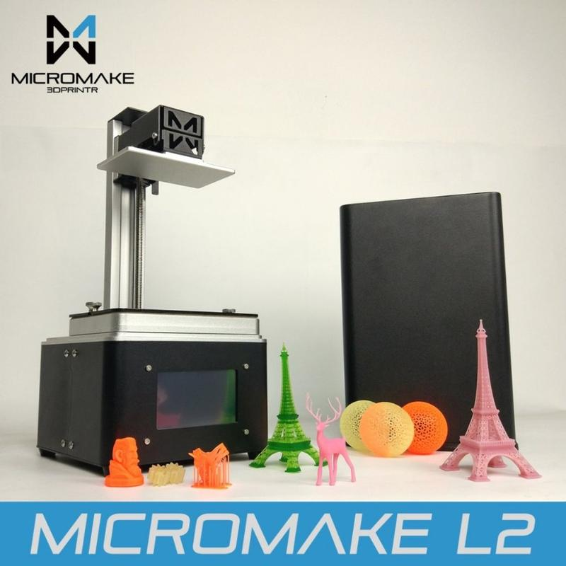 The Micromake L2 prints with generic liquid resins with 405nm wavelength, providing you with a wide choice of materials.