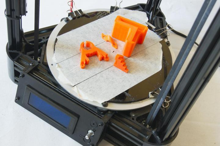 The build area of the Micromake D1 3D Printer
