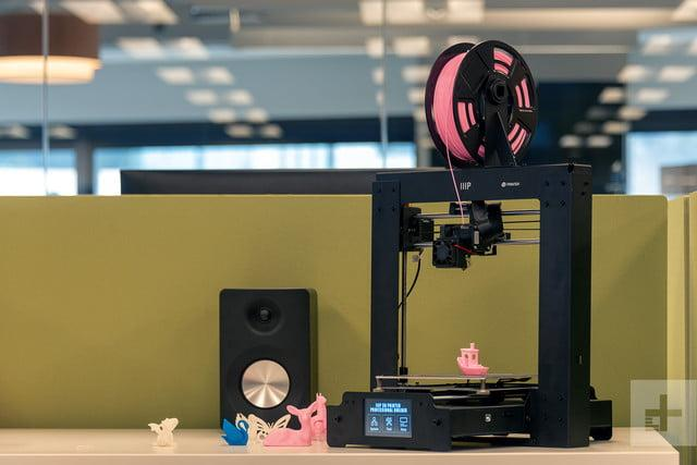 The Monoprice Maker Select Plus prints with 1.75 mm filament,