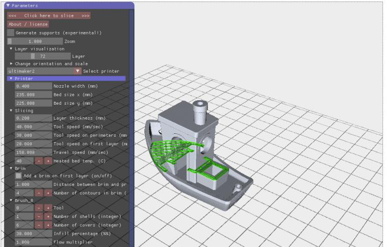 The printer supports both open-source and commercial 3D slicer software. It is compatible with Cura, Simplify3D, Repetier, and more
