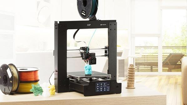 Monoprice Maker Select Plus 3D Printer on the table
