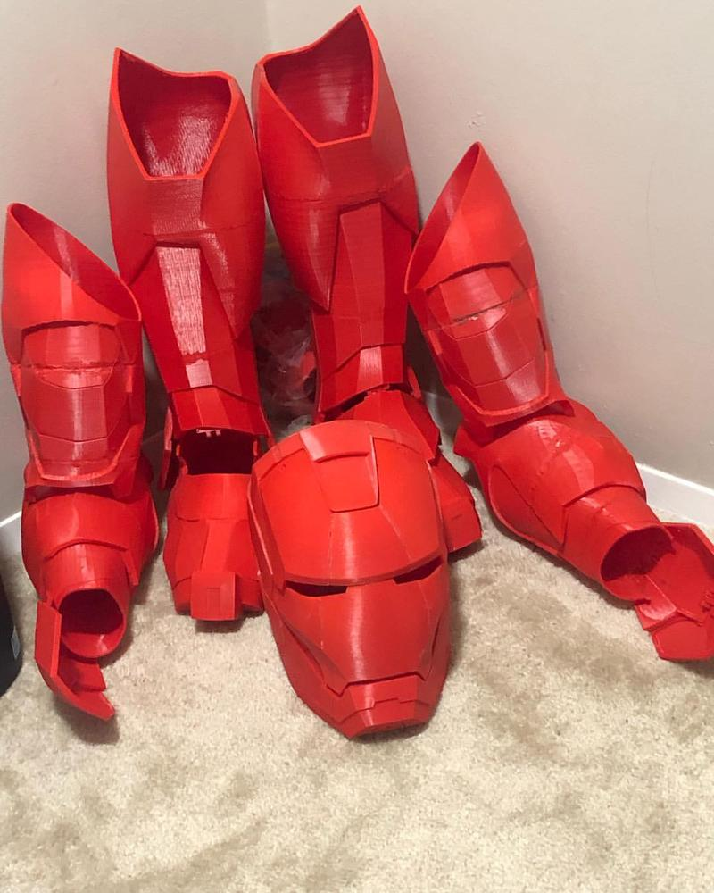 Iron Man's armor. printed on the Monoprice Maker Select Plus 3D Printer