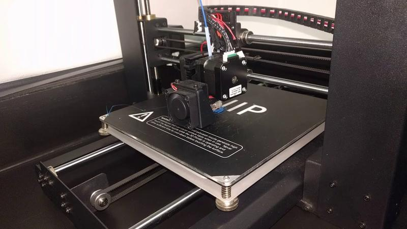 The Monoprice Maker Select v2 has a heated print bed, which makes it suitable for printing with ABS-type and slower cooling materials.