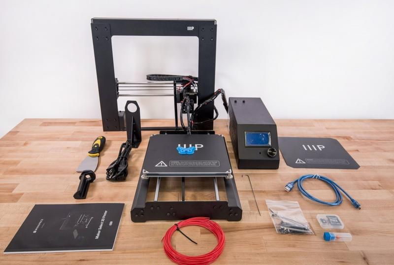 What's in the Monoprice Maker Select v2 3D Printer box