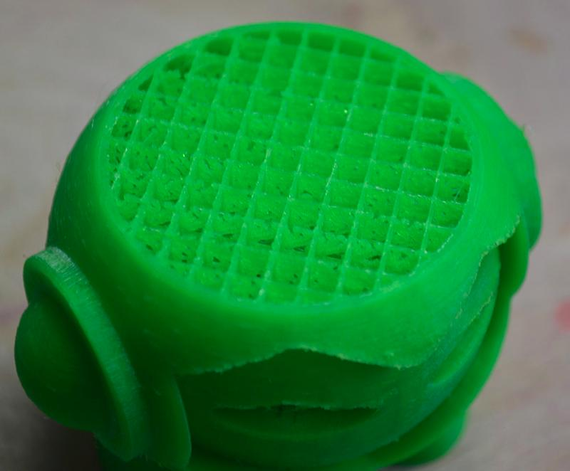 the some geen model printed on the Monoprice MP i3 3D Printer
