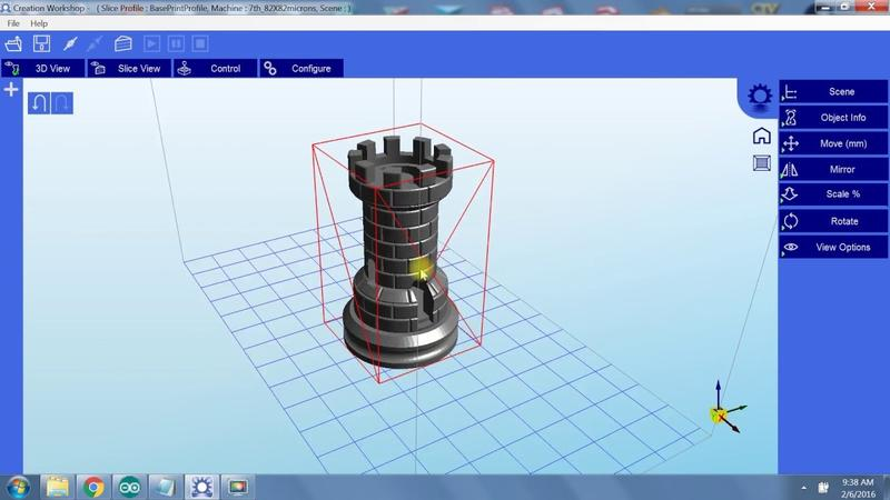 The printer software, Creation Workshop, lets you import any STL model.