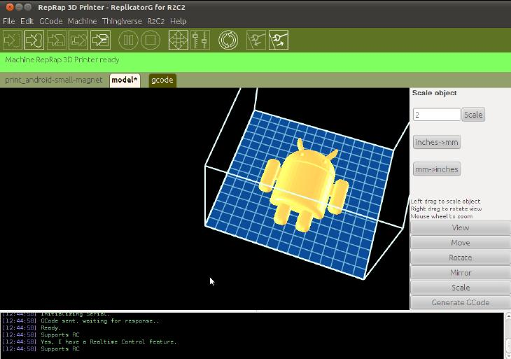 The printer is compatible with Cura, Repetier-Host, ReplicatorG, and Simplify3D slicing software.