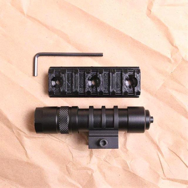 Another user 3D printed a rifle scope and its base for an M4 carbine. His next targets are doomed.