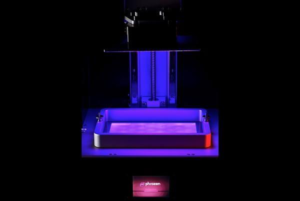 The build area of the Phrozen Shuffle XL 3D Printer